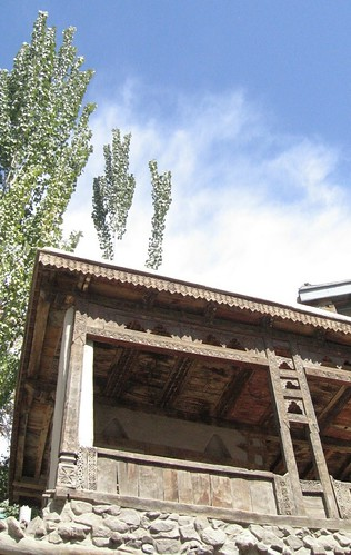 Wooden carvings on a house near Baltit Fort, Karimabad