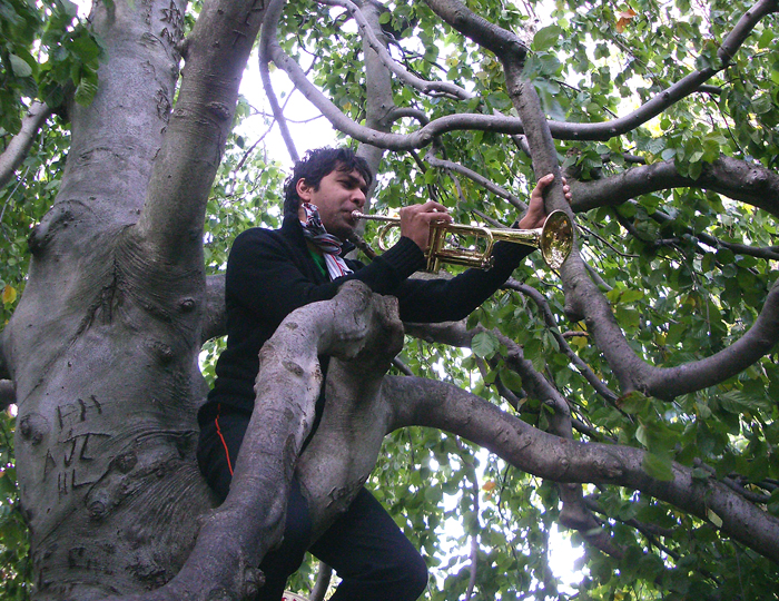 Playing Ederlezi for the leaves