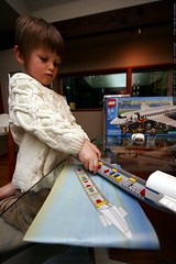 nick following pictographic lego instructions    MG …