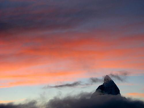 Matterhorn (VS/I - 4`478m) bei Zermatt , Kanton Wallis , Schweiz
