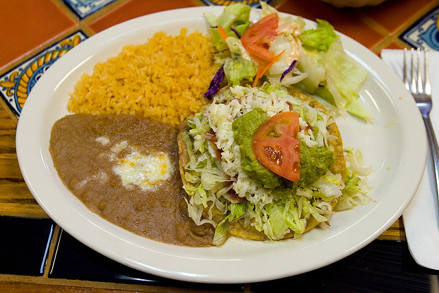 Beef tostada at Los Compadres | Flickr - Photo Sharing!