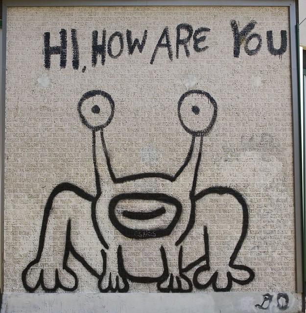 Daniel johnston frog austin tx flickr photo sharing for Austin frog mural