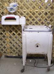 Old fashion washing machine