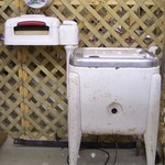 Old fashion washing machine