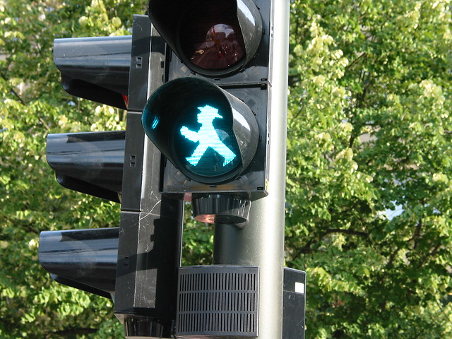 Traffic-Light Man in East Berlin, Germany