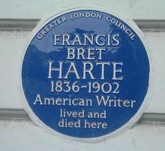 Photo of Francis Bret Harte blue plaque