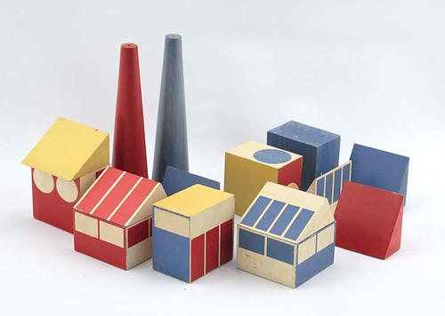 """Factory Town"" toy prototype, c 1942 by Ladislav Sutnar"