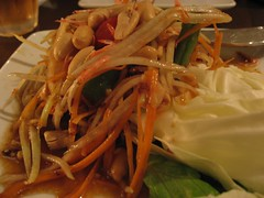 noodle, meal, lunch, spaghetti, green papaya salad, food, dish, yakisoba, pad thai, cuisine,