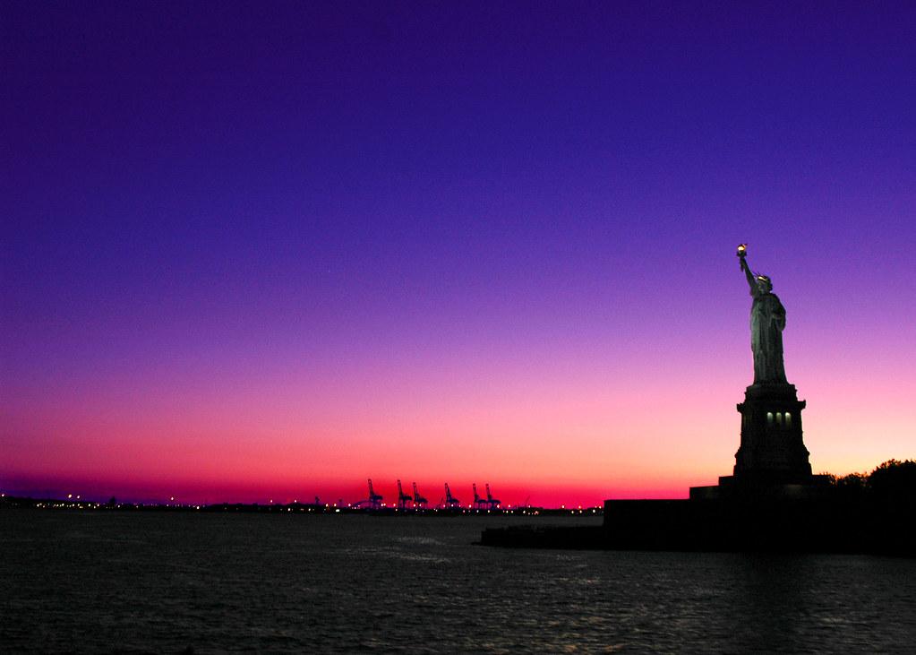 Lady Liberty at Sunset, New York, NY by Grufnik