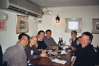 Brian, Me, Christina, Jesper, Eidar, Jane and Art eating Italian