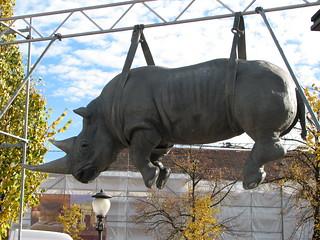 Nashorn auf dem Luisenplatz