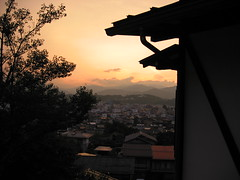 View over Takayama at sunset, Japan