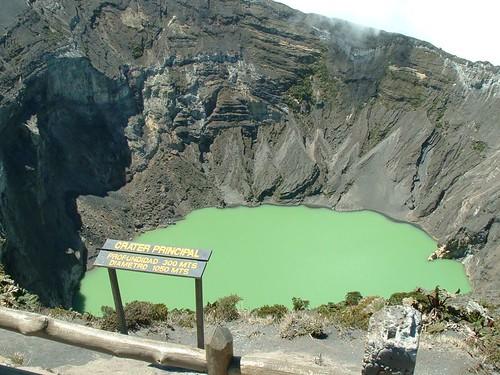 Irazu Volcano - Crater Volcán Irazú. Cartago, Costa Rica.