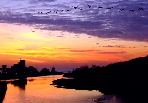 sunset goderich ontario canada