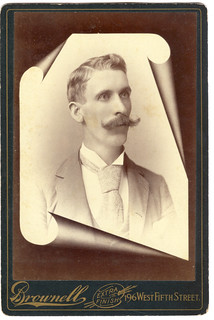 Memorial Cabinet Card, Anonymous Man, Cincinnati, Ohio, Turning Page Motif