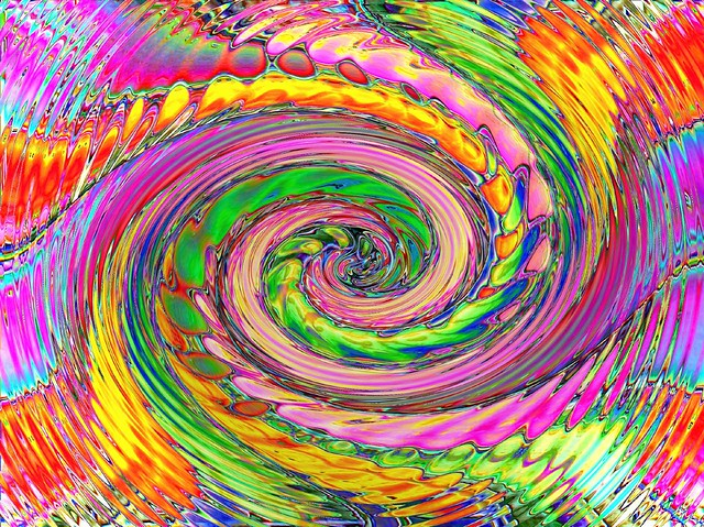 Catchy colours spiral