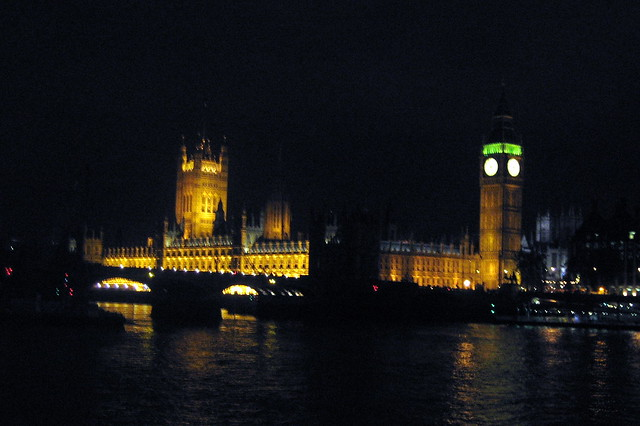 UK - London - Westminster - Houses of Parliament at Night