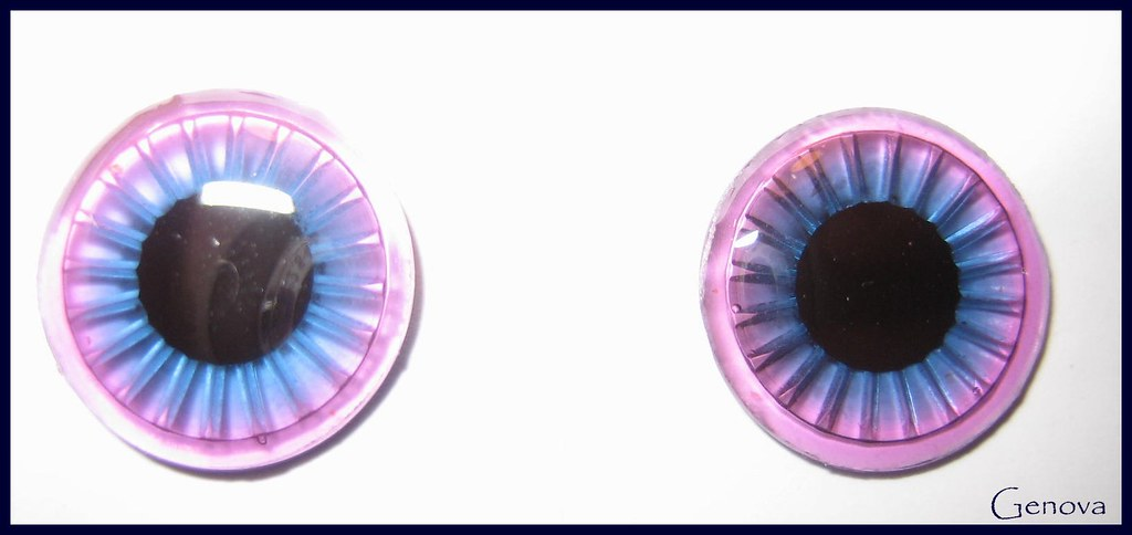 Two toned eyechips - Blue/ Purple