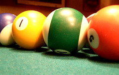 recreation(0.0), nine-ball(0.0), carom billiards(0.0), english billiards(0.0), indoor games and sports(1.0), sports(1.0), pool(1.0), games(1.0), billiard ball(1.0), eight ball(1.0), ball(1.0), cue sports(1.0),