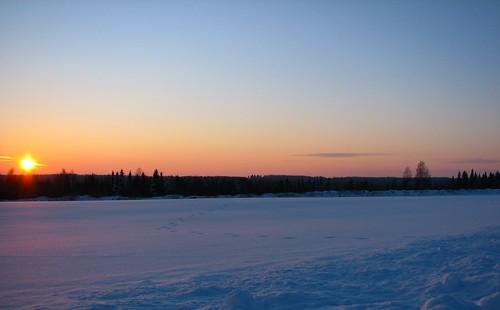 winter sunset snow lumi talvi penttilänmäki
