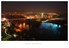 Niagara Falls and the Rainbow Bridge by jzakariya