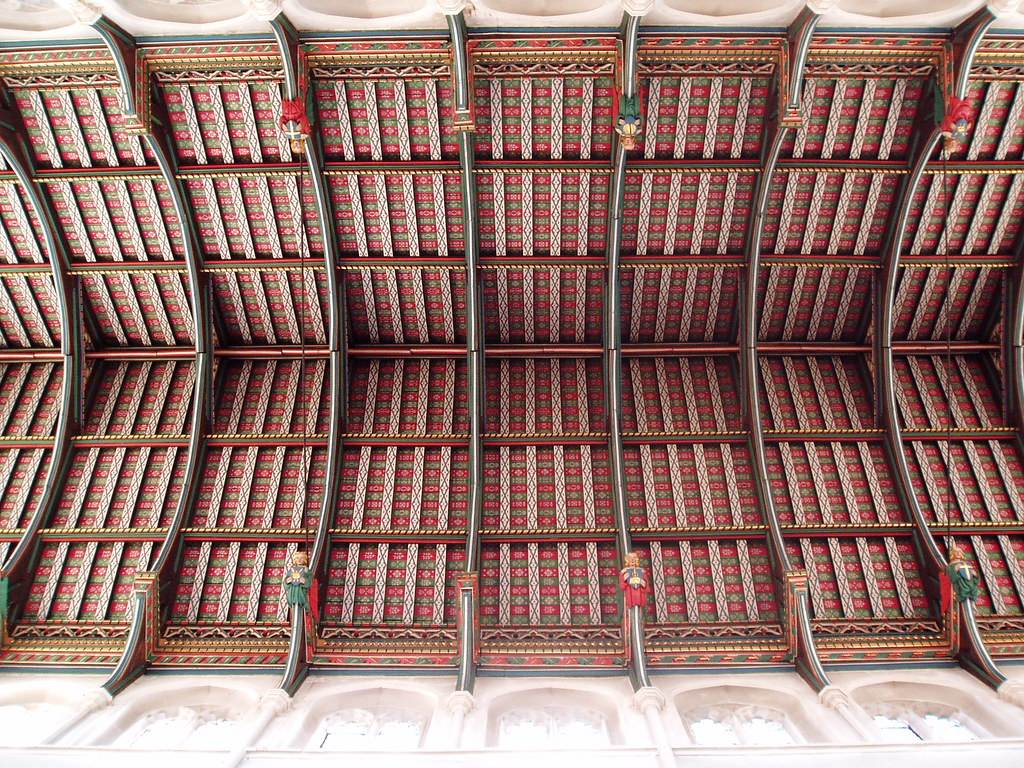 The cathedral ceiling