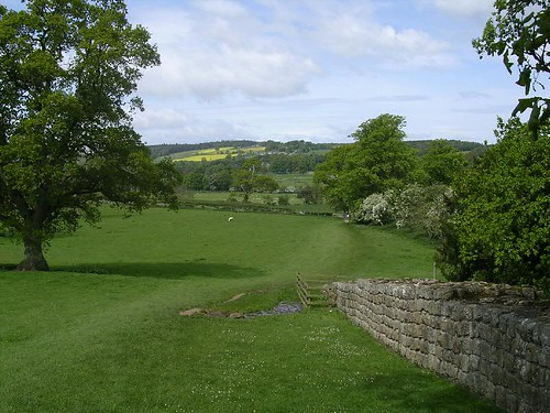 View towards Chesters from Brunton Turret, looking W