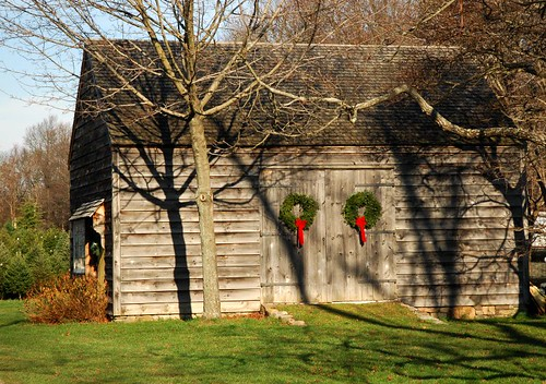 christmas barn by Alida's Photos