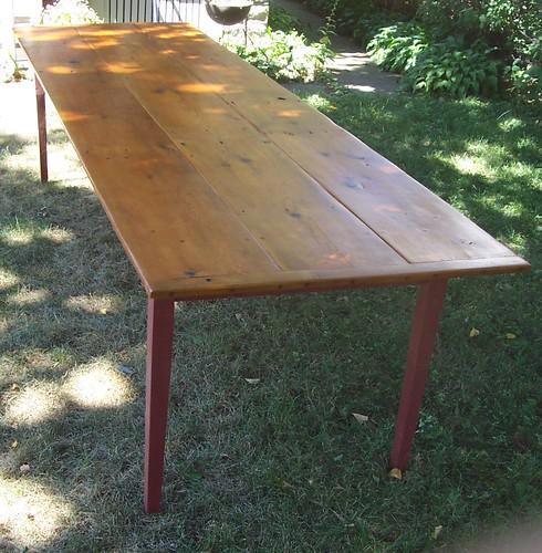 reclaimed pine harvest table