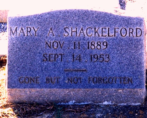 Grave of Mary Alice Nichols-Shackelford
