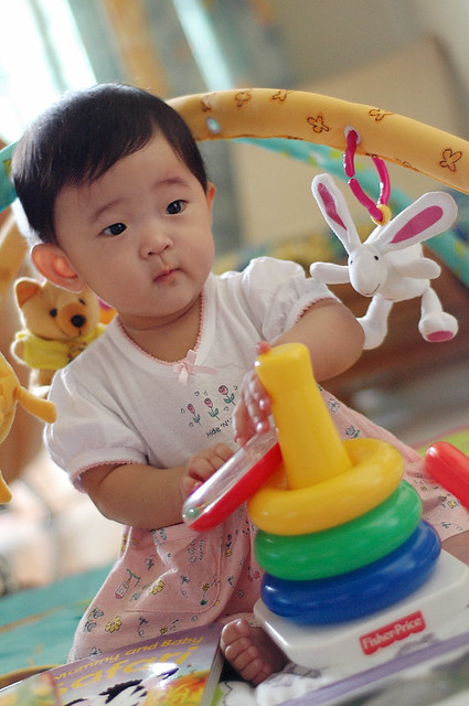 Renice, Fisher-Price Ambassador, at 0 years, 8 months, 16 days