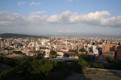 熊本城から眺める熊本市内