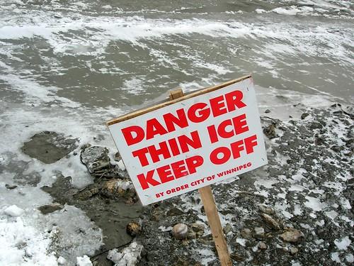 Como olvidar a mi ex Danger thin ice keep off