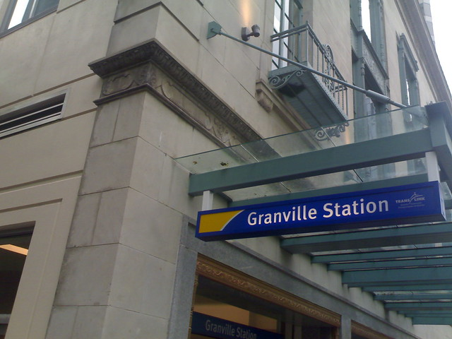 New Granville Station Sign on Dunsmuir
