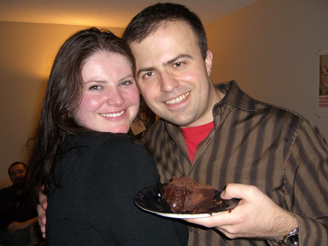 Colleen, me, and the cake