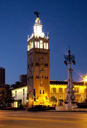 plaza tower lights kansascity nighttime missouri countryclubplaza jcnichols