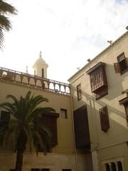 Coptic Cairo: Coptic Museum courtyard