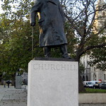 UK - London - Westminster: Parliament Square - Winston Churchill statue