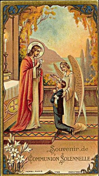 Holy card / Image pieuse / Heiligenbild: Souvenir de première communion