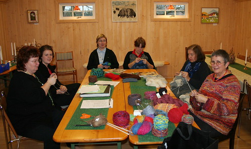 Knitting café at Bitterna Lamm
