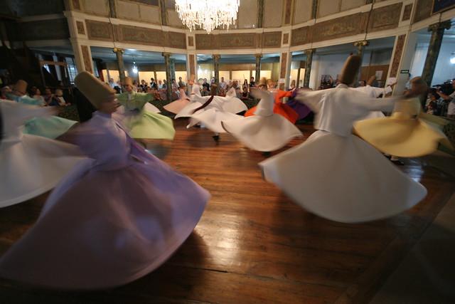 Turkish whirling dervish Dance