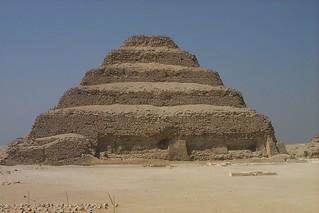 Zoser's (Djoser's) step pyramid, Saqqara, Egypt