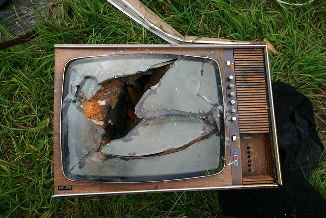 Old broken TV