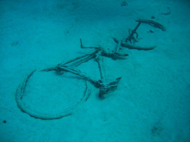 Bicycle underwater