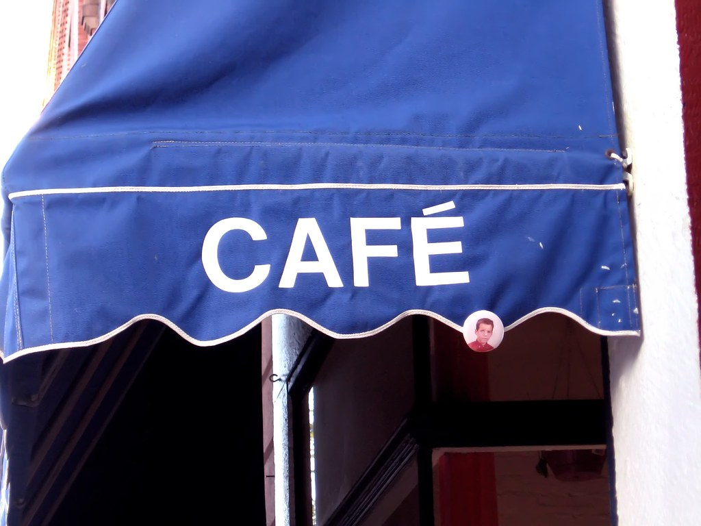 Cafe Awning With Guy's Face