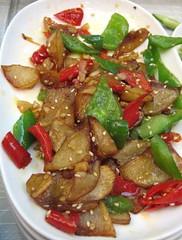 salad, vegetable, vegetarian food, kung pao chicken, food, dish, cuisine,