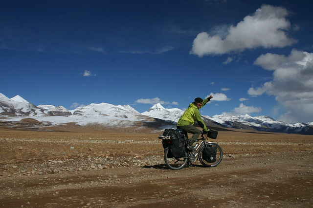 Having reached the super holy Mt. Kailash (6656m) by bicycle from Denmark was a great thing for me. Magical moment...