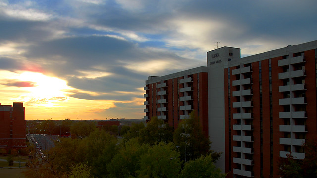 Sunset At Uab View Of Camp Hall Dorm Flickr Photo