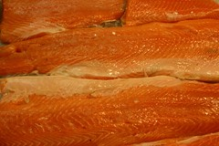 orange, salmon, fish, lox, food, smoked salmon,