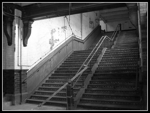 Missed The Train, Manchester Mayfield station steps